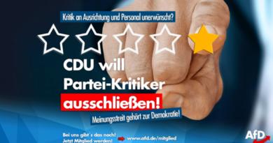 CDU will Kritiker aus der Partei werfen!