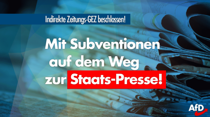 Merkel-Regierung beschließt indirekt eine Zeitungs-GEZ!
