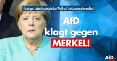 "Wegen ""rückgängig gemachter"" Wahl: AfD klagt gegen Merkel!"