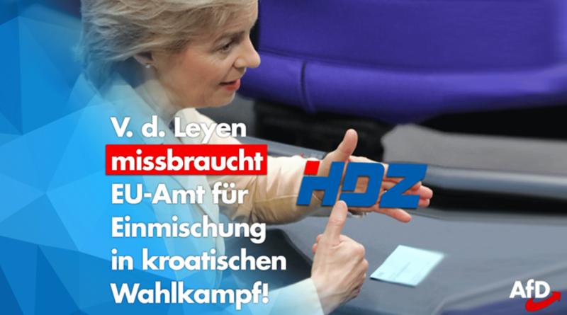 Von der Leyen missbraucht EU-Amt für Einmischung in kroatischen Wahlkampf!