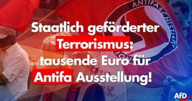Staatlich geförderter Terrorismus – tausende Euro für Antifa Ausstellung in Chemnitz