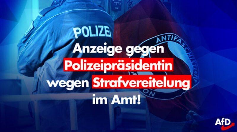 Berliner Polizei darf Antifa-Zentrum nicht betreten: Polizeipräsidentin wegen Strafvereitelung im Amt angezeigt!