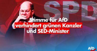 """Die rot-rot-grüne Resterampe will Deutschland """"regieren"""" – dagegen hilft nur die AfD"""