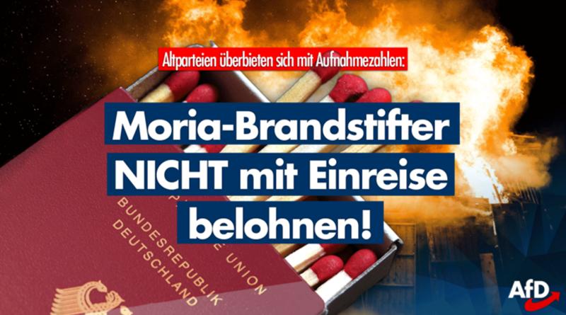 Brandstiftung wird belohnt: Altparteien wollen immer mehr Moria-Migranten!