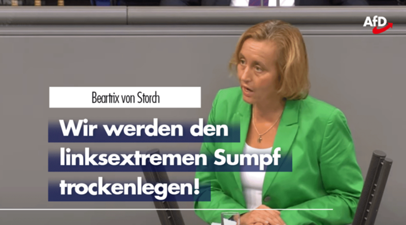 Beatrix von Storch zum linksextremen Sumpf in Deutschland