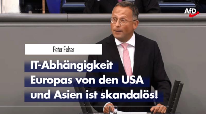 Peter Felser zur mangelnden digitalen Souveränität