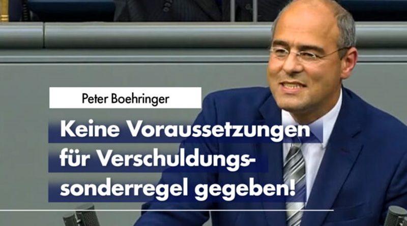 Peter Boehringer in der Haushaltsdebatte über die Corona-Politik