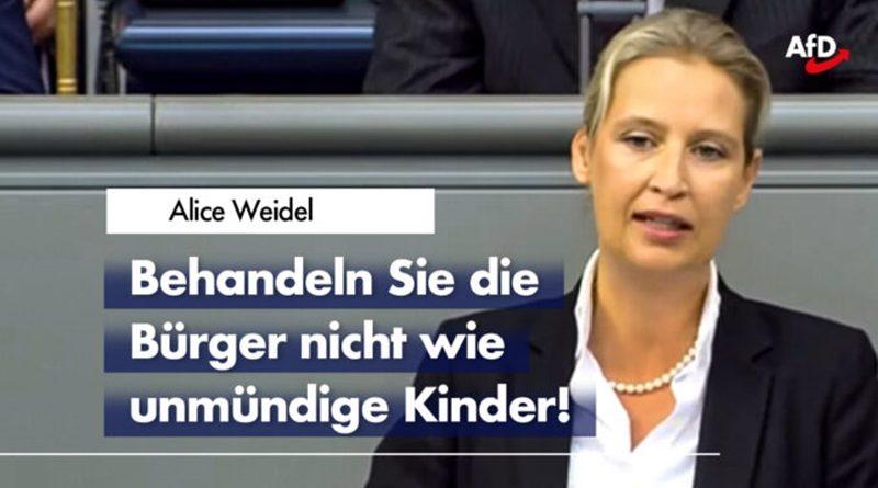 Alice Weidel in der Generaldebatte zum Versagen der Regierung